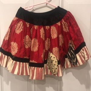 Persnickety holiday skirt